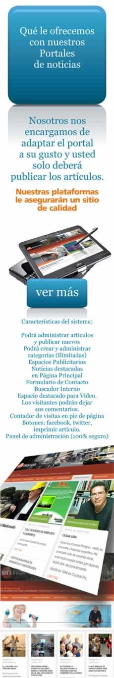 Diseño web de Portales de noticias y sitios de contenido dinámico.