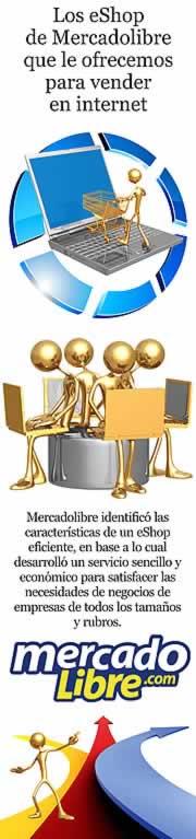 Los eShop de Mercadolibre que le ofrecemos para vender en internet.